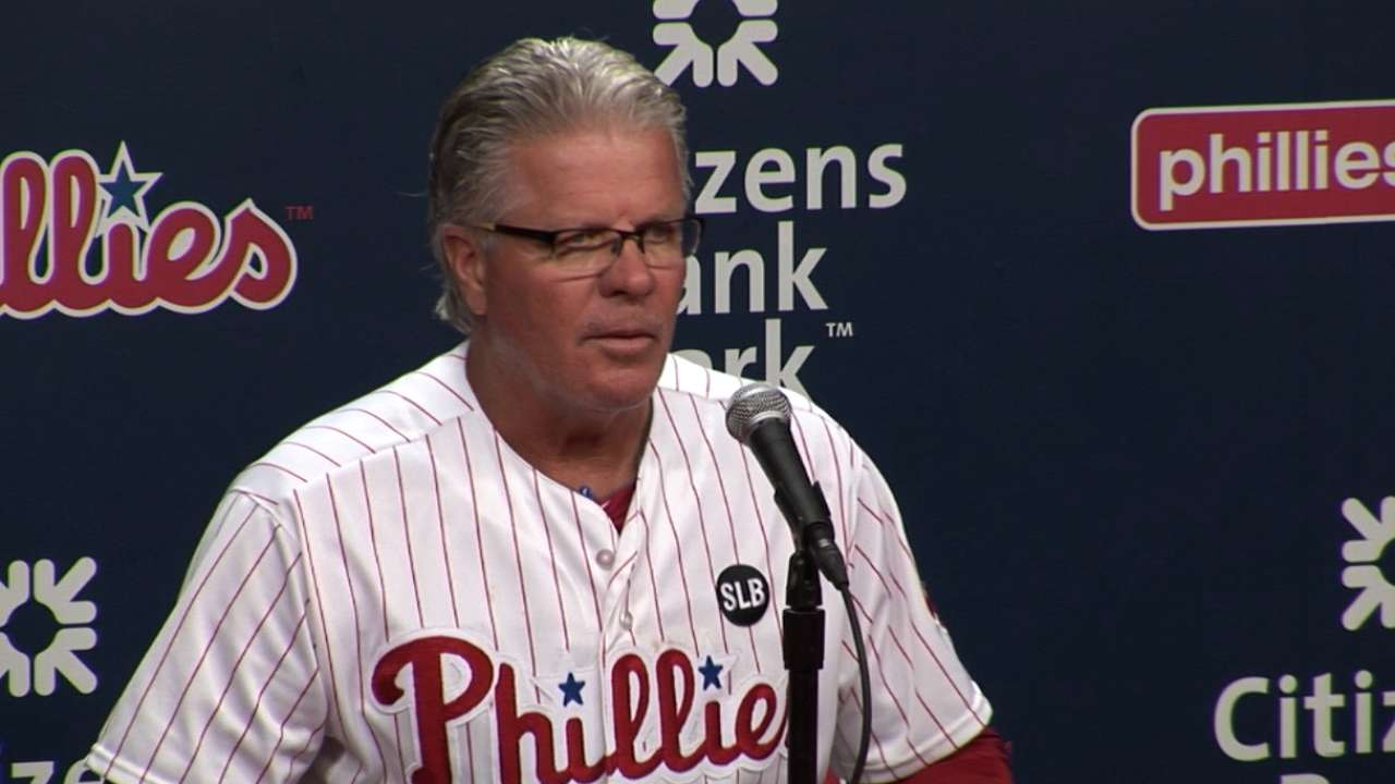 Mackanin on Harang, Phils' win