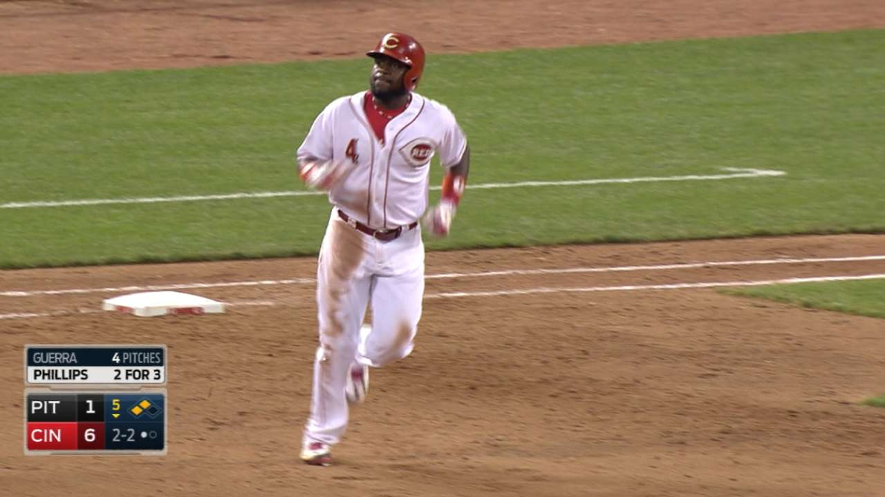 Phillips leads Reds' rout of Bucs