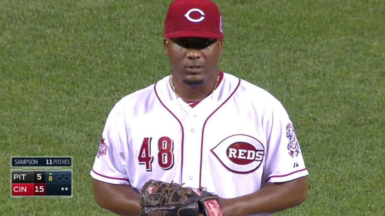Sampson whiffs Florimon in debut