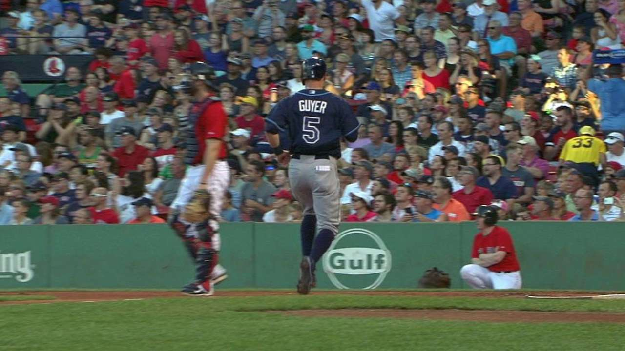 Guyer scores game's first run