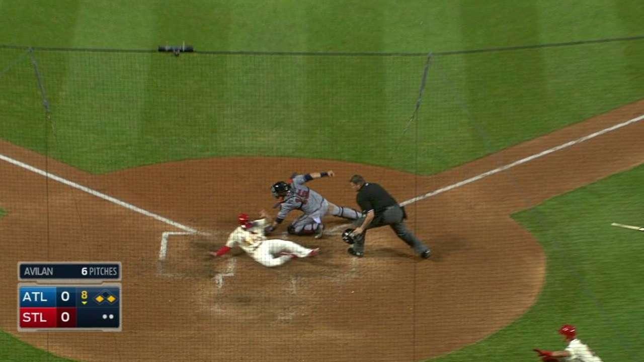 Cardinals strike late after Martinez-Miller duel