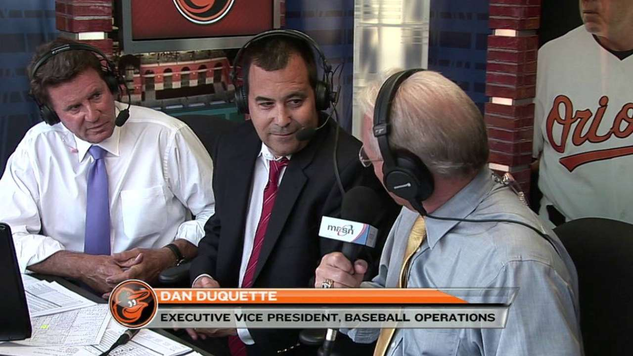 Duquette on Trade Deadline moves