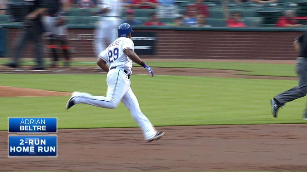Beltre, Andrus power Rangers past Giants