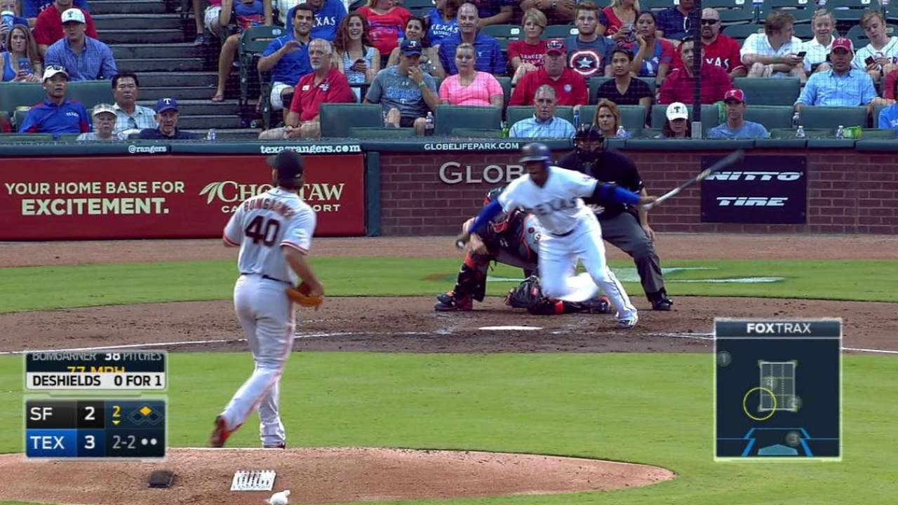 DeShields' RBI single