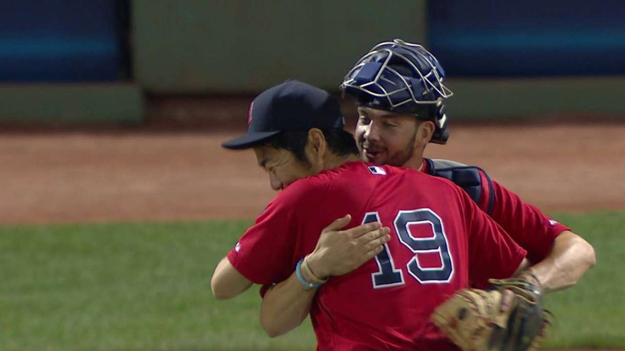 Koji earns the save