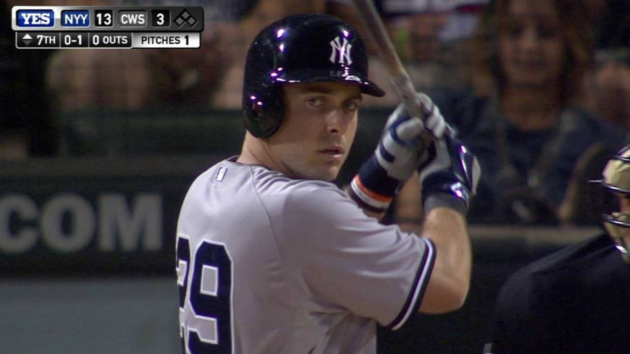 Ackley's first at-bat with Yanks