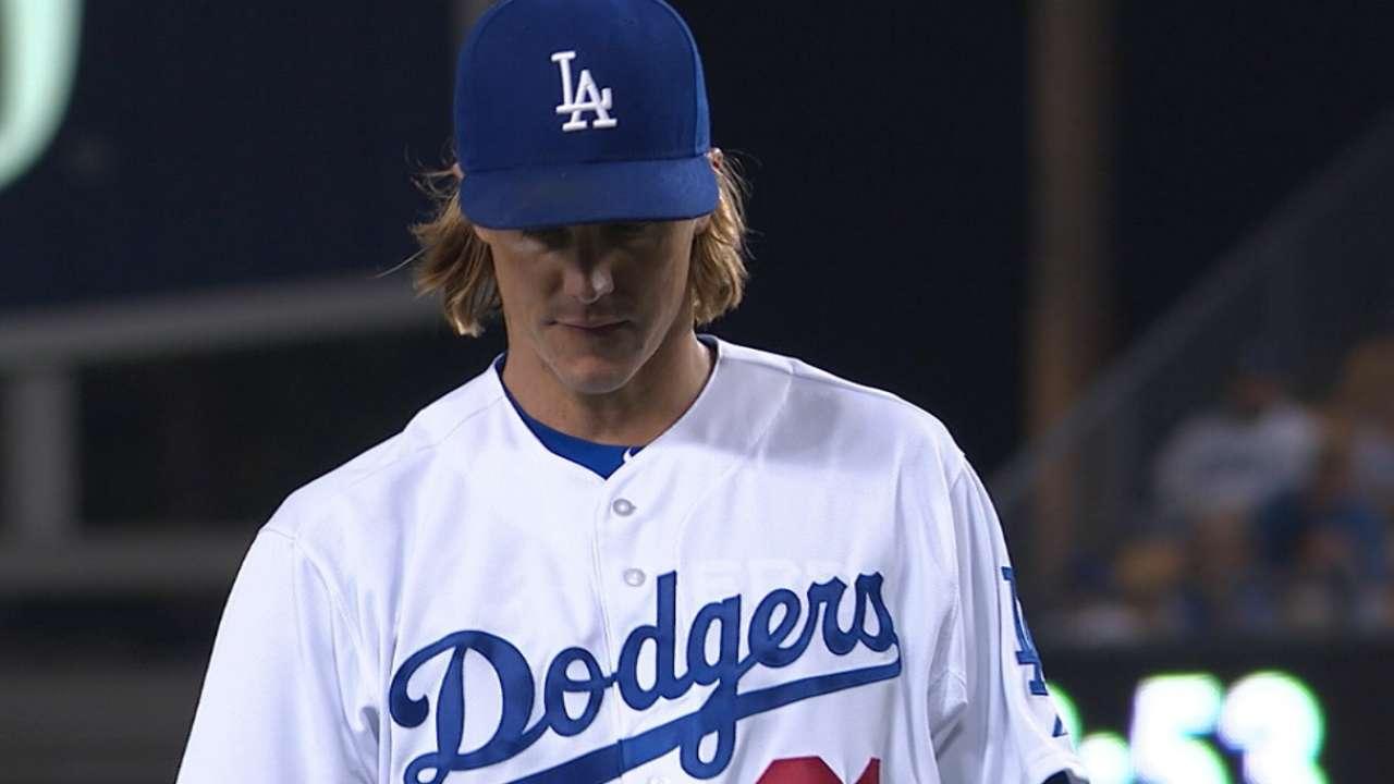 Dodgers' bats stay hot as Greinke tops Angels