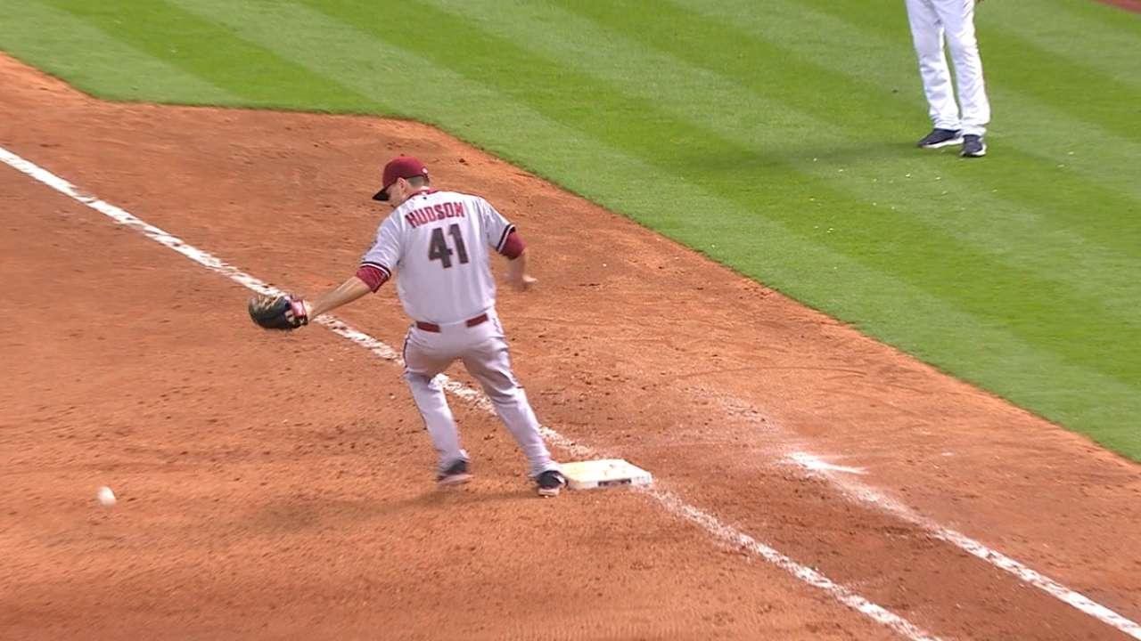 Gonzalez reaches on an error