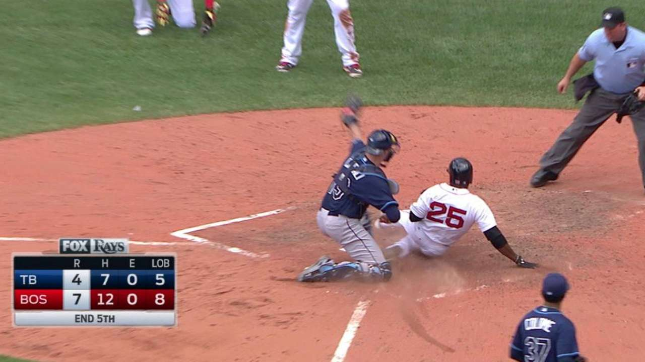 Kiermaier gets the out at home