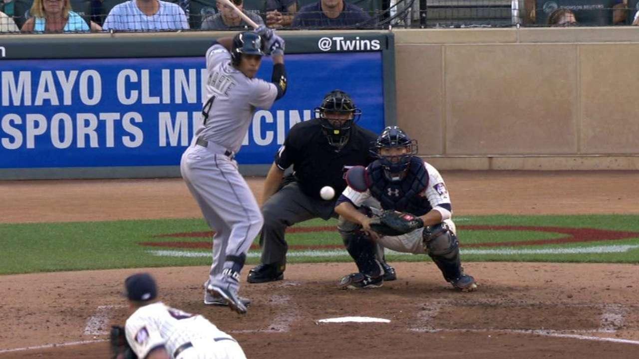 Marte's first big league hit