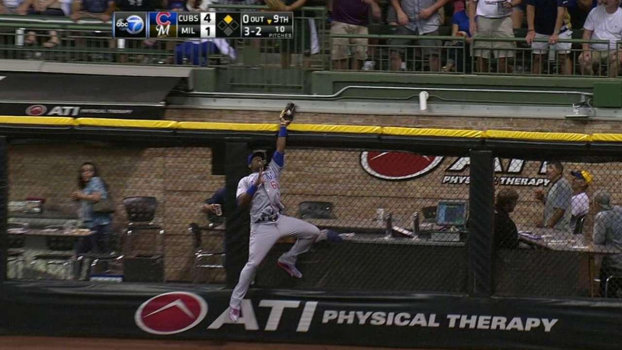Soler's outstanding catch