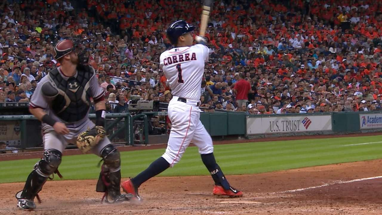 Correa continues ascent with first 2-HR effort