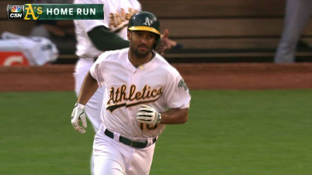 Semien's solo home run