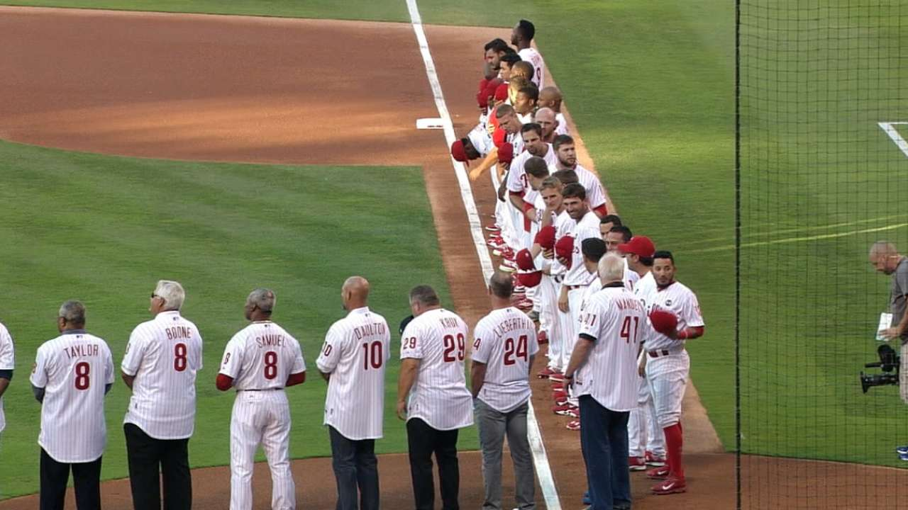Pride all around as Phils, fans honor alumni