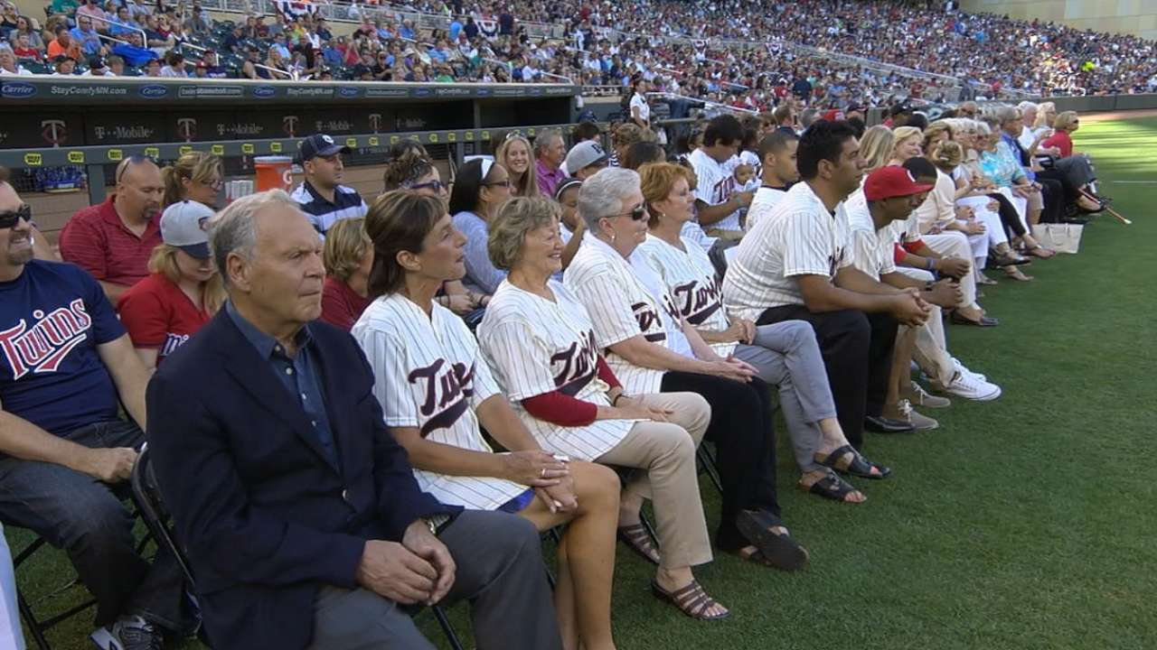 Twins honor 50th anniversary of '65 AL pennant