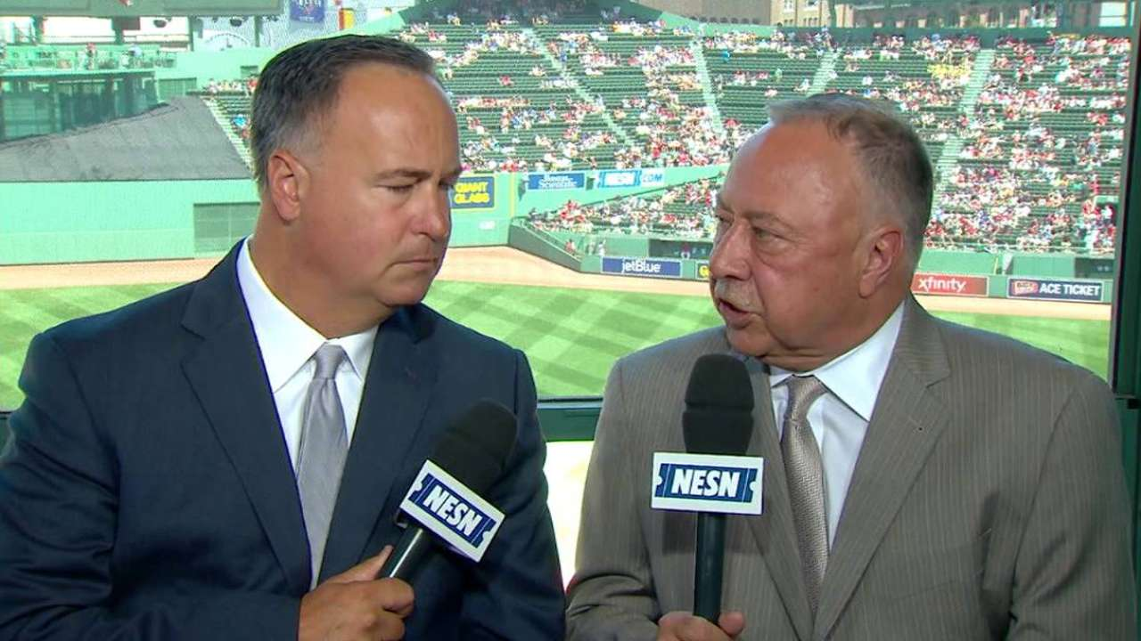 Red Sox booth on Lucchino