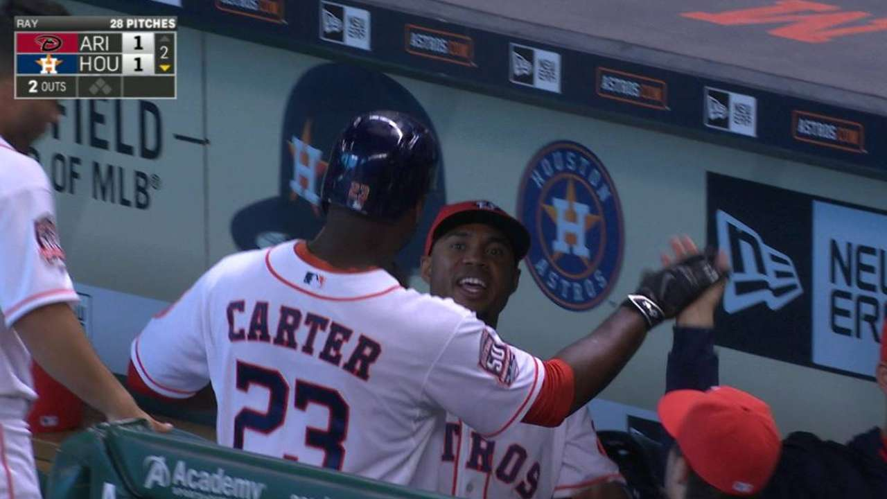 Hinch sticking with hot hand at first base