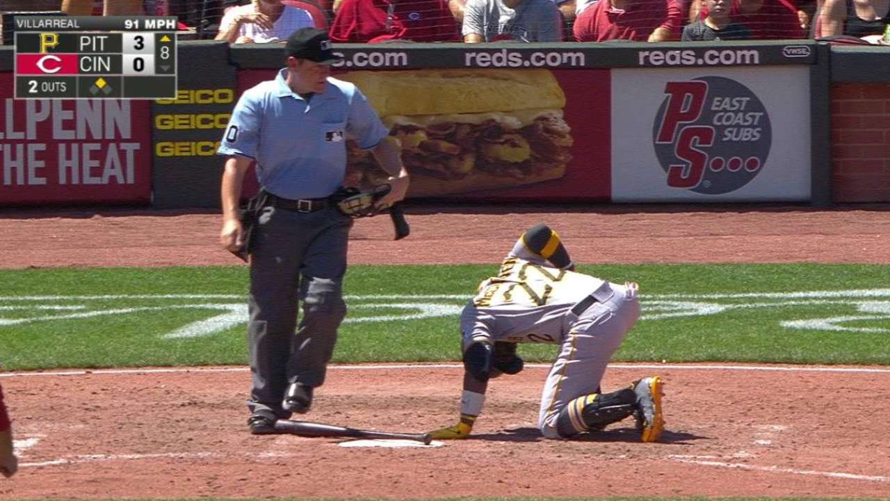 Cutch gets plunked in the 8th