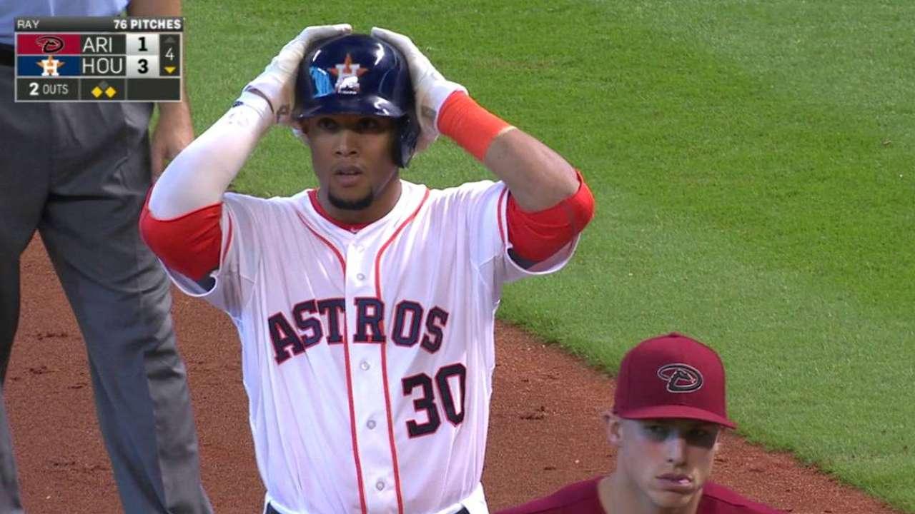 Gomez loving 'Club Astros' environment