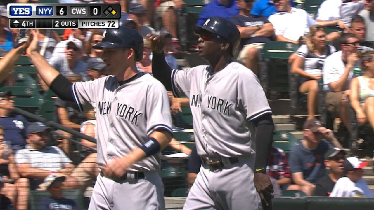 Bottom's up! Trio delivers for Yankees
