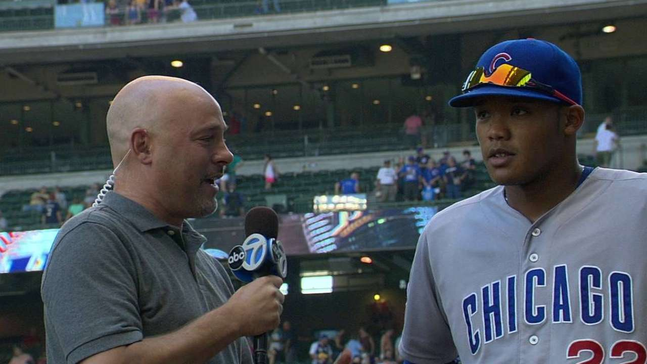 A. Russell talks Cubs' win