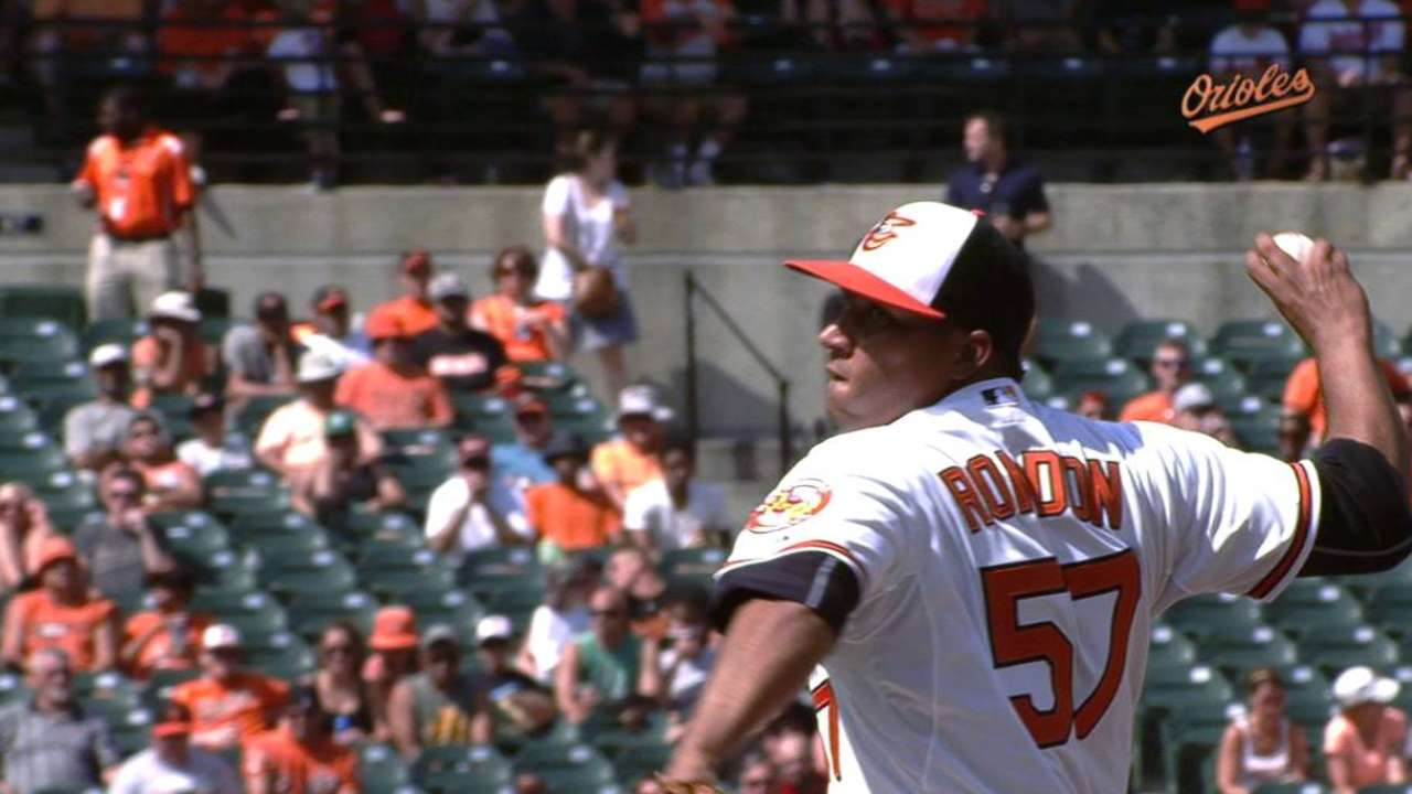 Rondon's first Orioles K