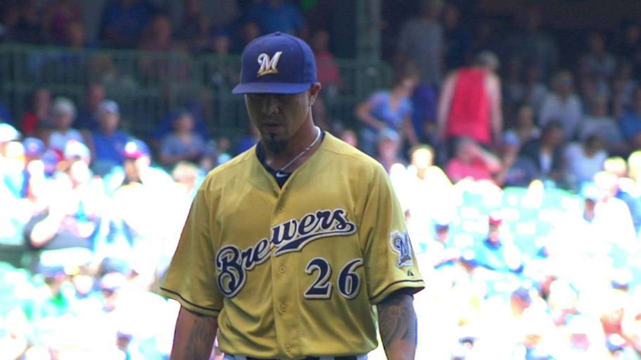 Brewers mull Lohse's rotation status after loss
