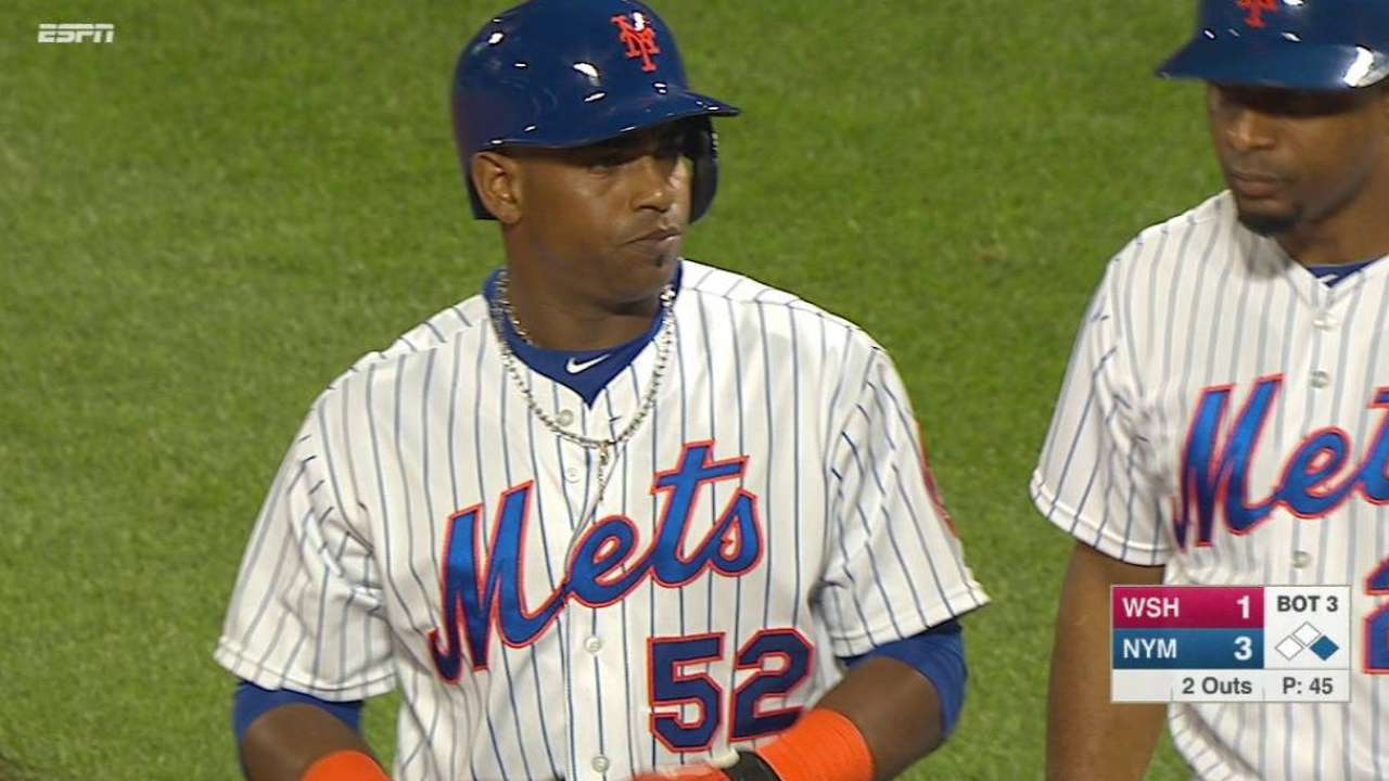 Cespedes' first Mets hit