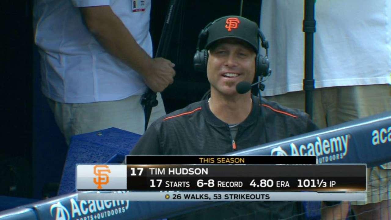 In final Turner Field trip, Hudson reminisces