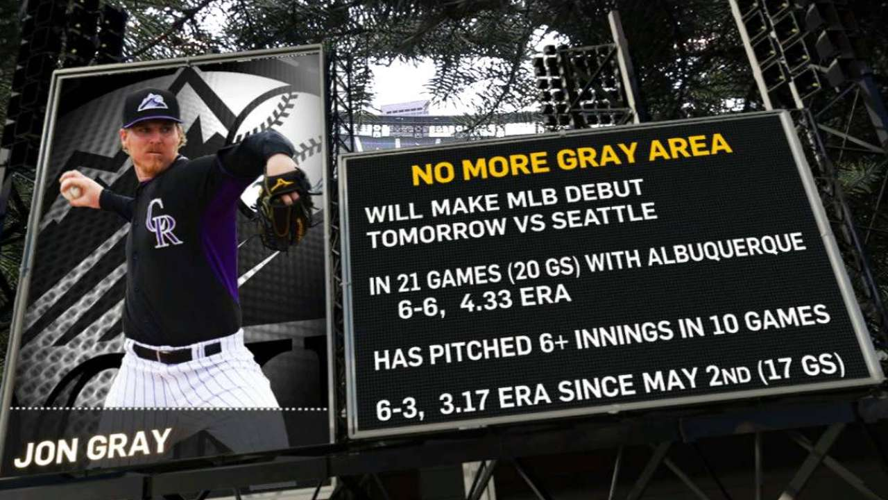 Gray ready for anticipated debut on Tuesday