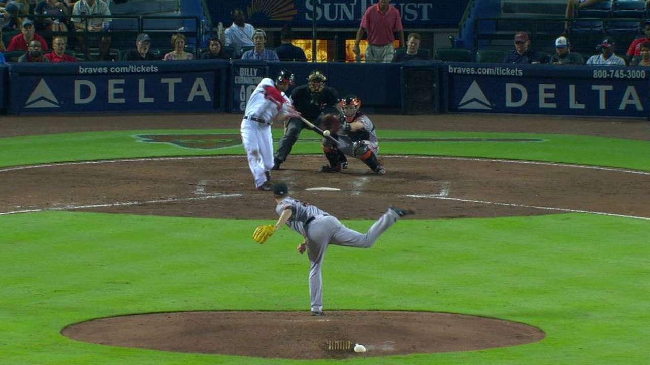 Peterson's three-run homer