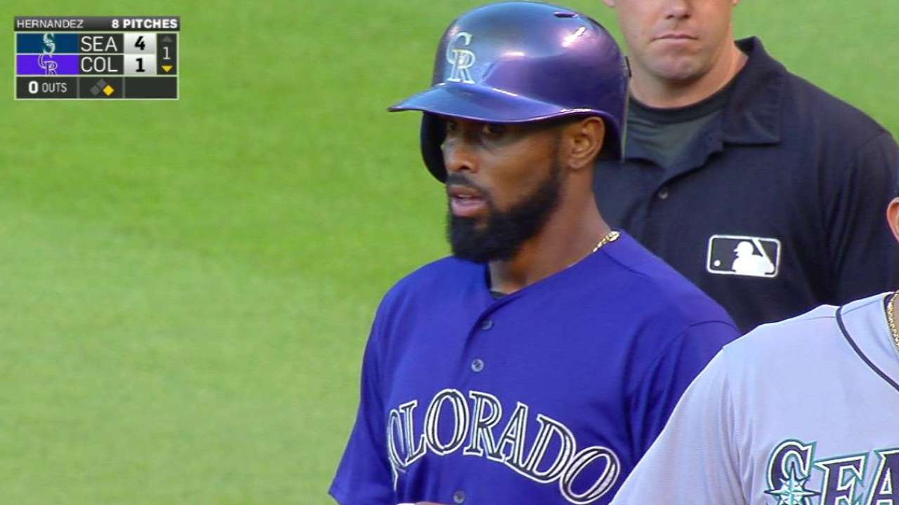 Reyes shows his skills in Coors Field debut