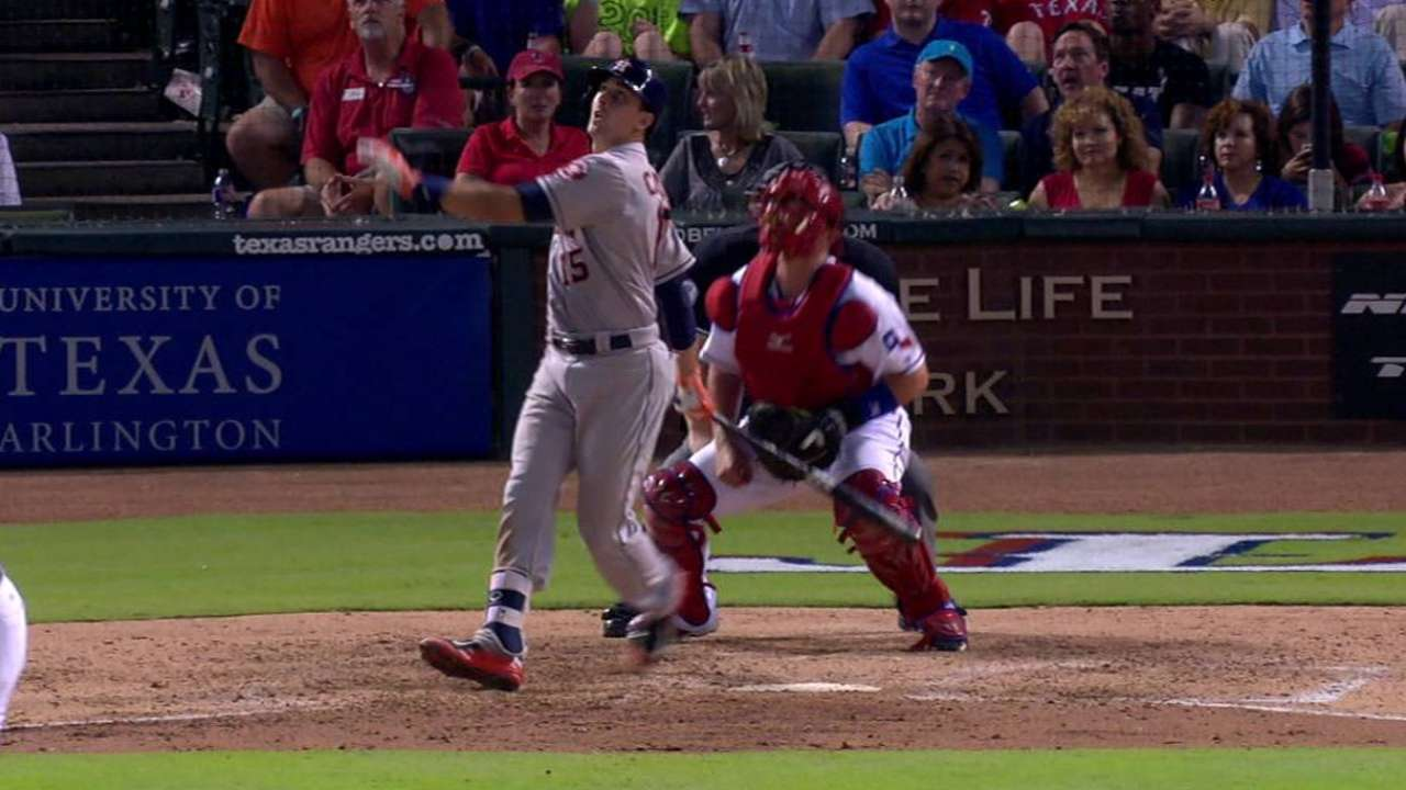 Astros' catchers catching fire at the plate