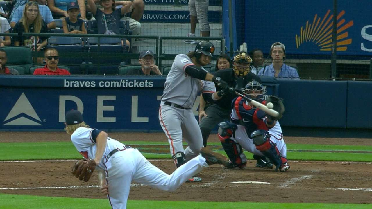 Giants hit four homers