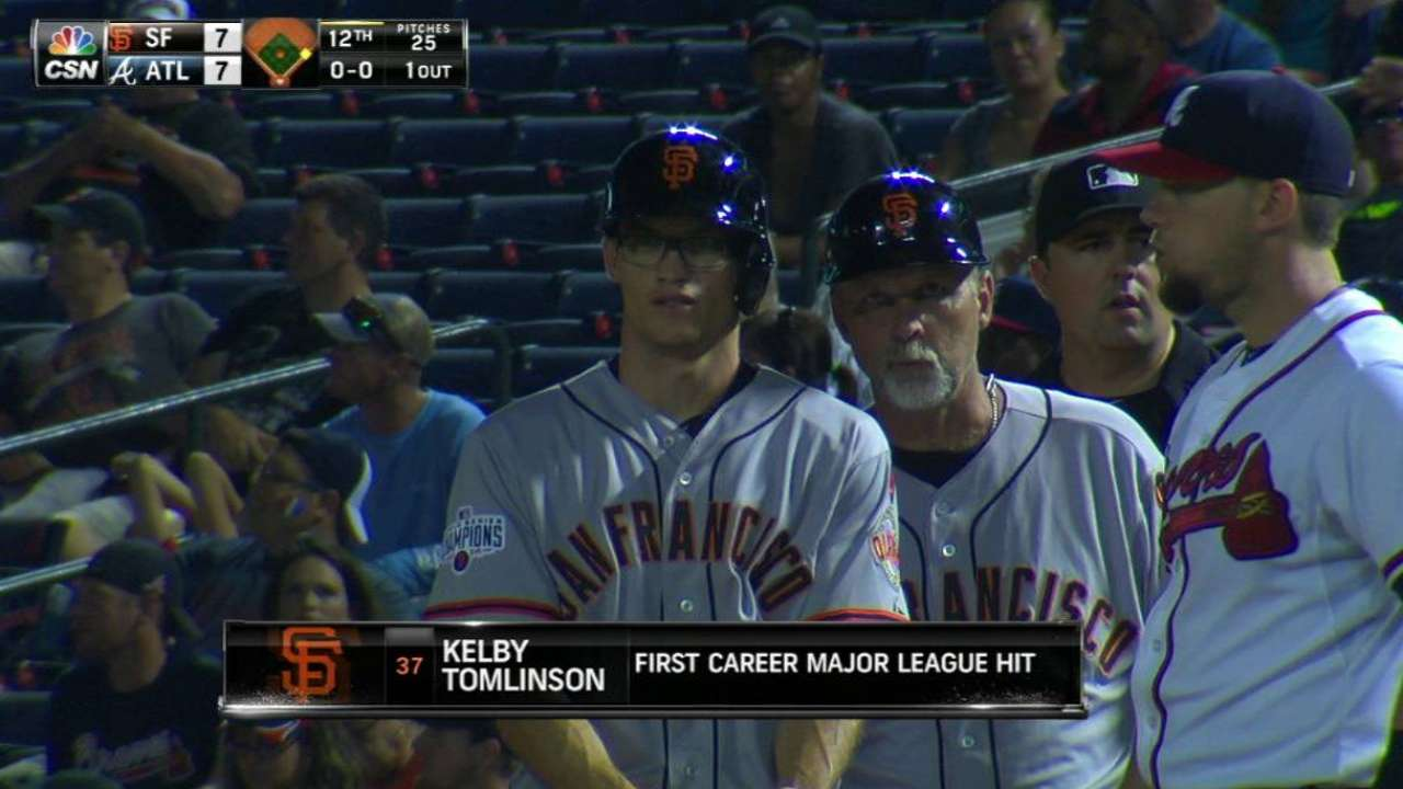 Tomlinson's first career hit