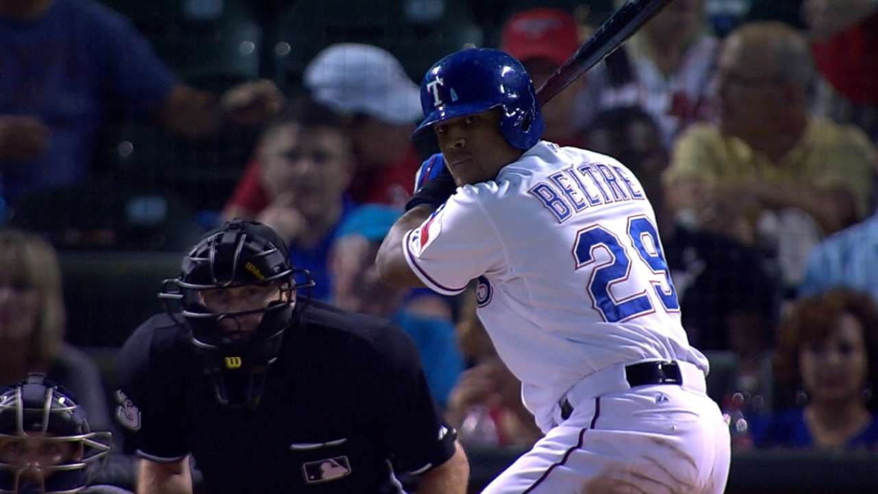 Beltre joins elite club with third cycle