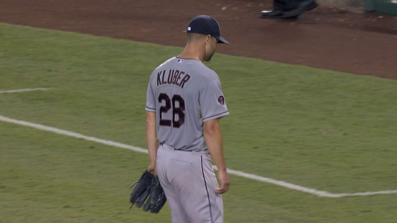 Staked to a lead, Kluber comes undone late