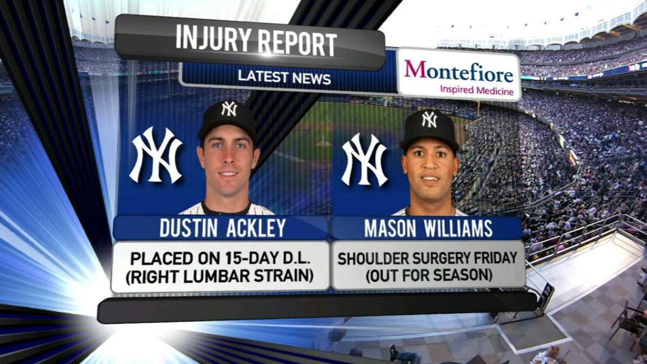 Ackley on DL after 2 games with Yanks