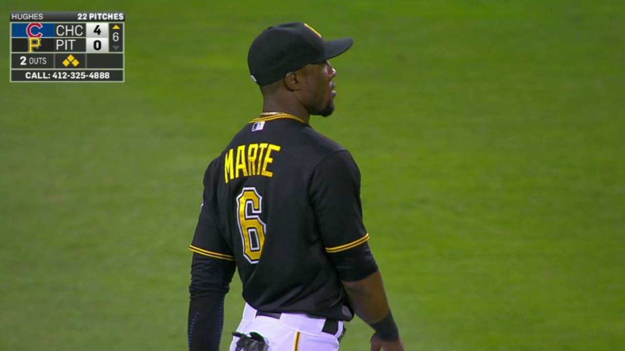 Marte gives himself an assist on assist