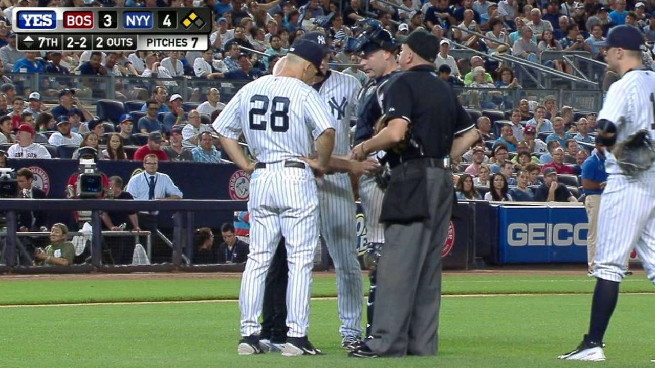 McCann 'relieved' to return to Yanks' lineup