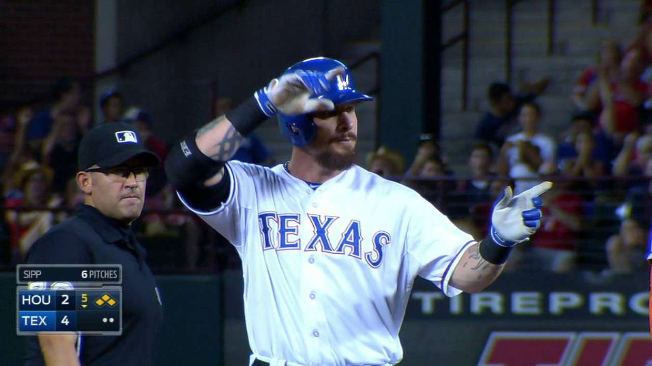 Rangers return to .500 thanks to big fifth