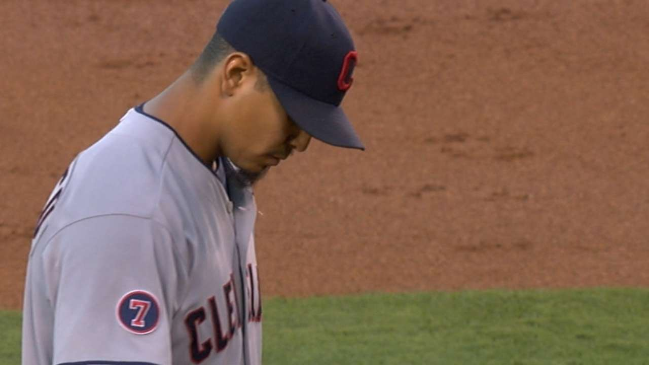 Carrasco limits Halos to one hit in nine frames