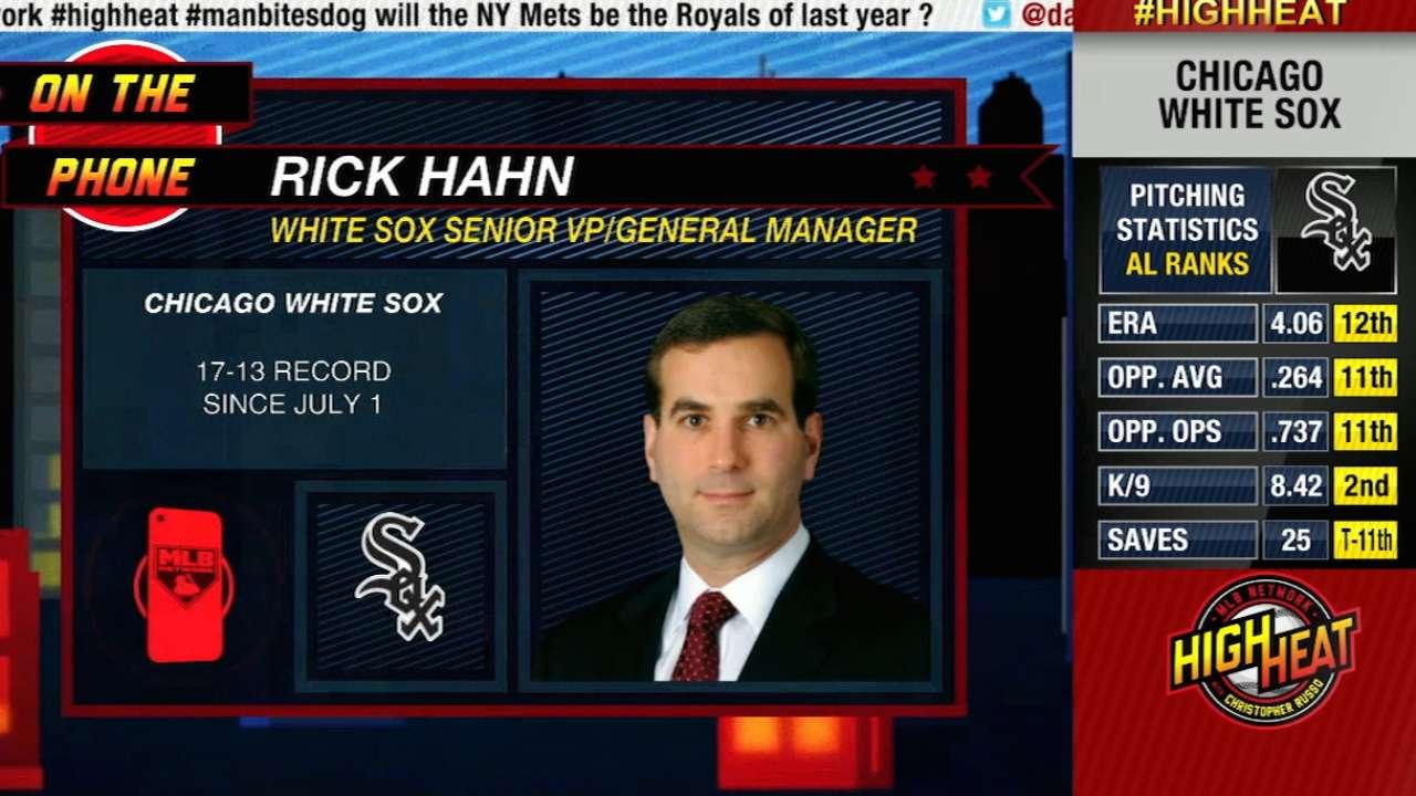 Hahn won't discuss future during season