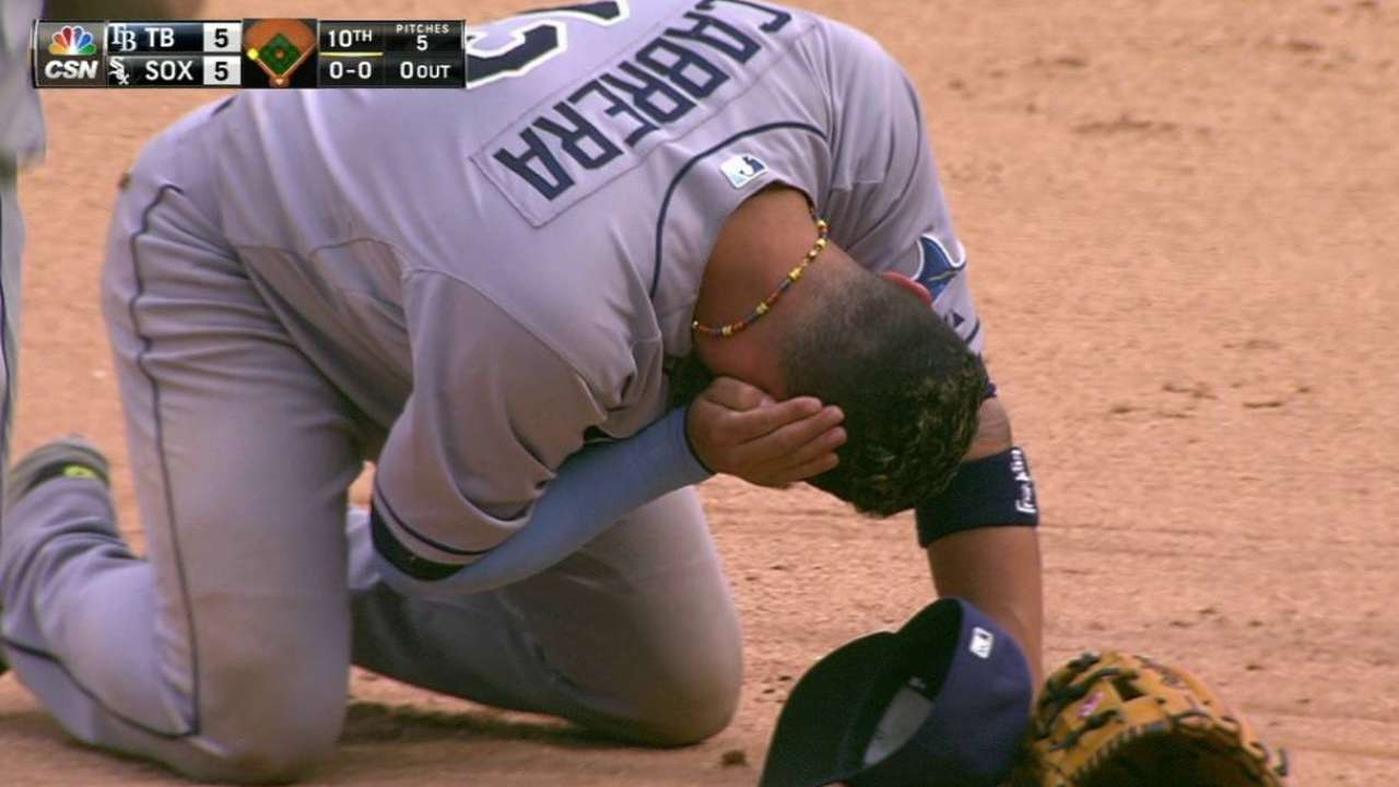 Unusual play forces Rays' hand in 10th inning