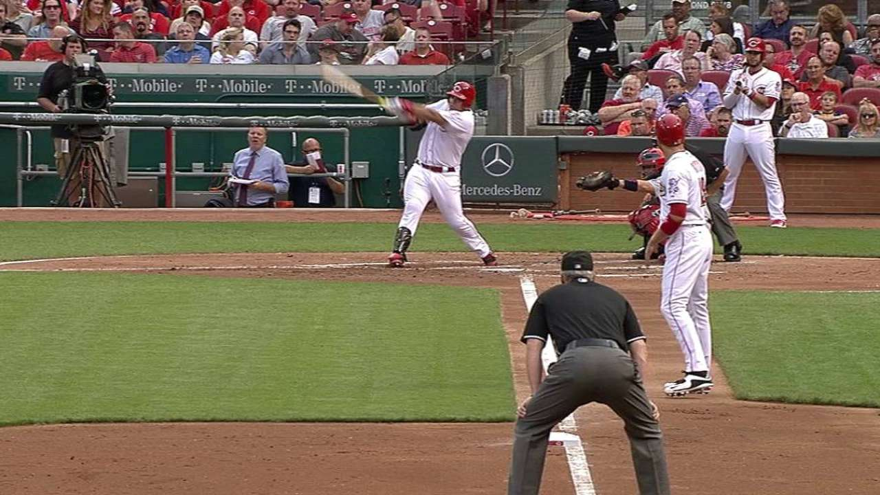 Pena's two-run double