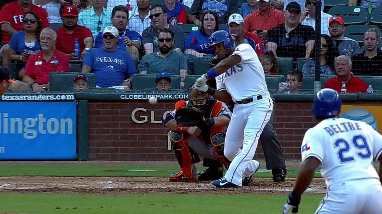 Rangers solve Kazmir to sweep Astros