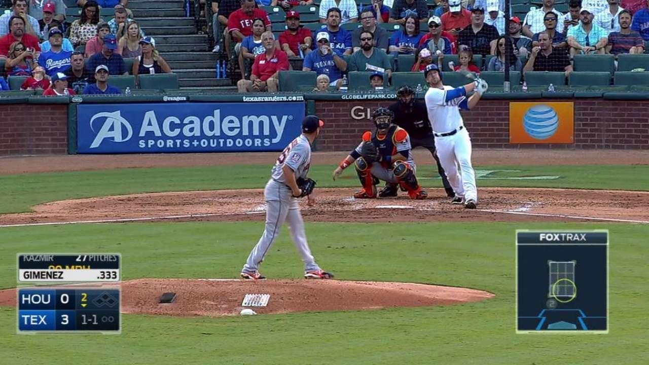 Rangers le caen a Kazmir y barren la serie vs. Astros