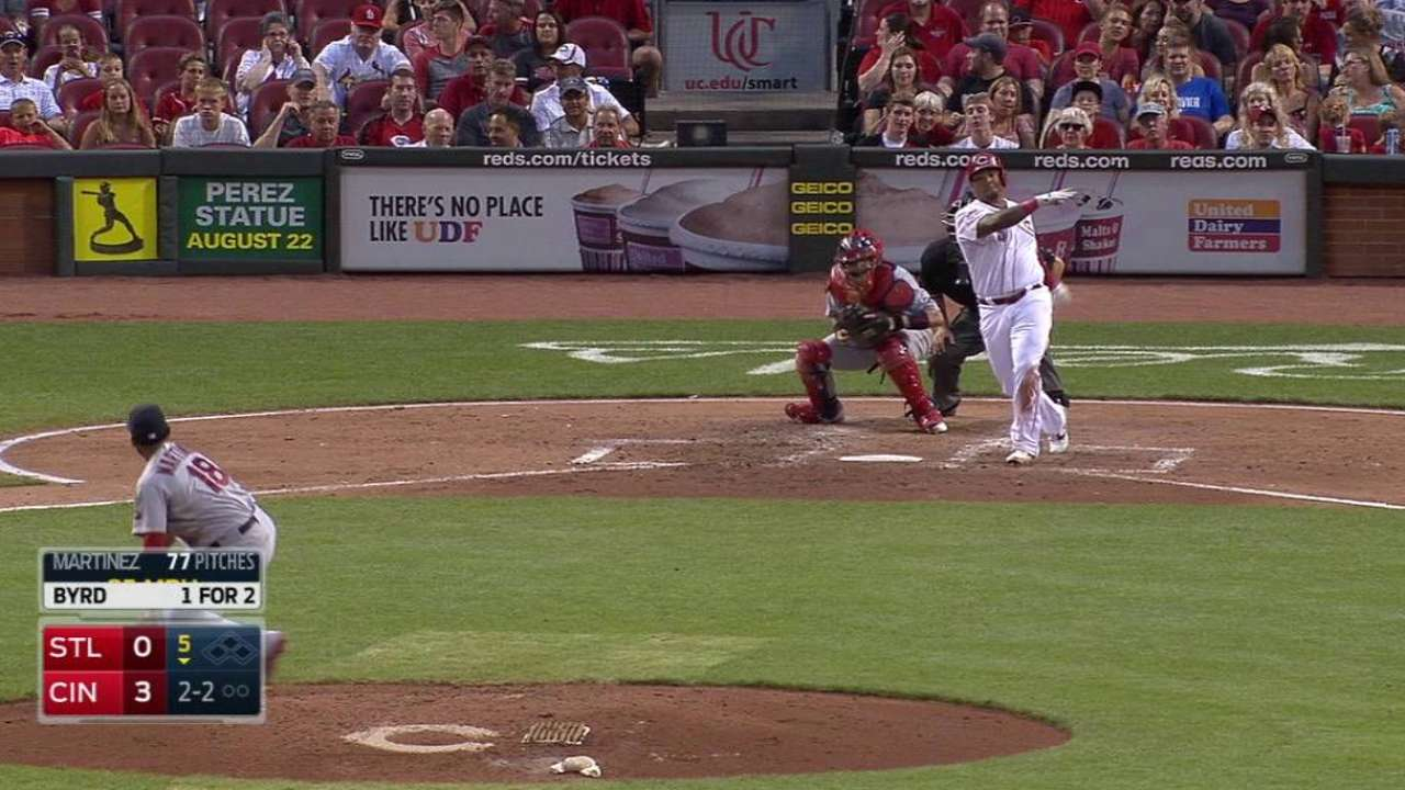 Martinez strikes out Byrd