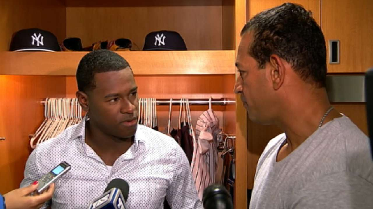 Severino on 2-1 loss in debut