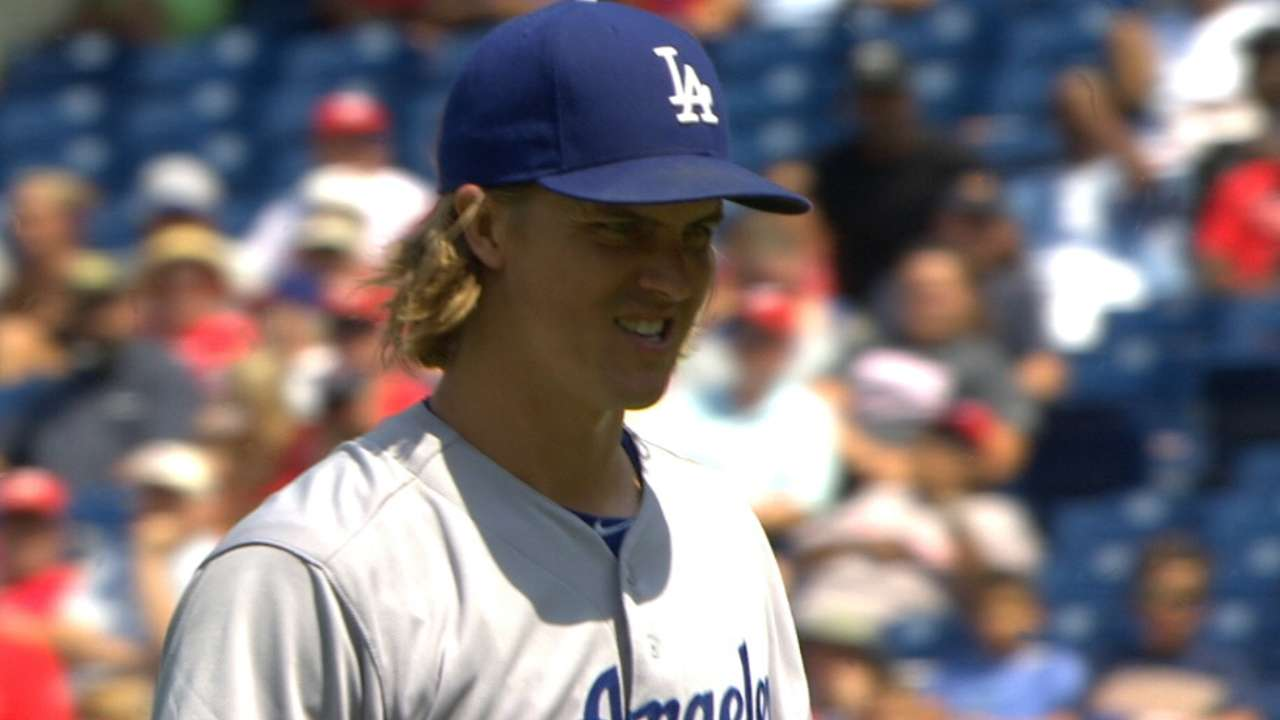 Greinke strikes out eight